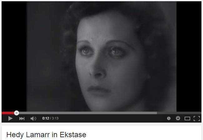 Hedy Lamarr Orgasmic Scene In 1933 'Ecstasy' — The First In A Non-Pornographic Movie.