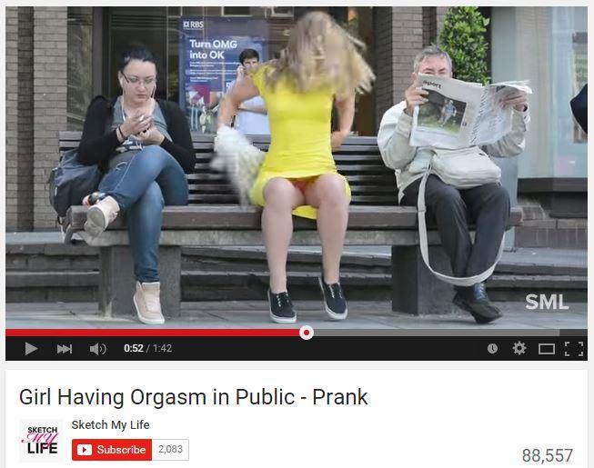 Orgasm in public
