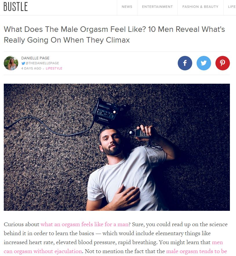 What does an orgasm feel like for men