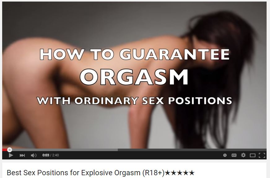 best position for orgasm videos